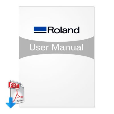 Roland EGX-400 Benchtop Engravers User manual (Free Download)