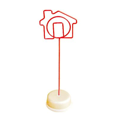 Small house shaped memo clip holders