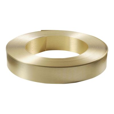 "80mm (3.1"") x 50m (164ft) Roll Brush Gold Aluminum Return Coil (With Folded Edge, 2 Rolls / ctn) for Channel Letter Sign Fabrication Making"