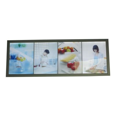"13.7"" x 37.4"" Aluminum Frame Pictures Motion LED Super Slim Light Box with 4 Pictures (With Printings)"