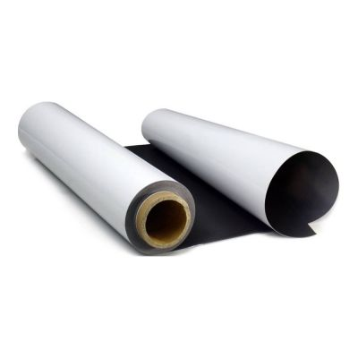 "54""(1.37m*30m) Printing Media Solvent PET Steel Roll Film Magnetic Receptive"
