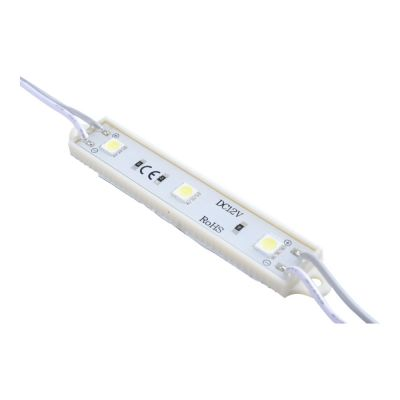 Sample-SMD 5050 Waterproof LED Module (3 LEDs, White Light, L78mm x W15mm)