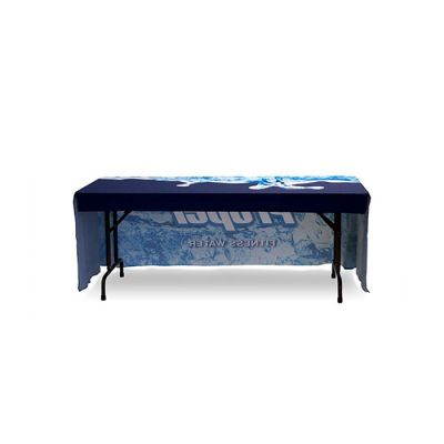 6ft(3)Full Length Sides Table Throws with Customs Dye-sublimation Full Color Printing, Right Corners