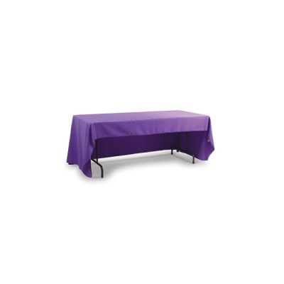 6ft(3)Full Length Sides Table Throws with Customs Dye-sublimation Full Color Printing, Rounded Corners