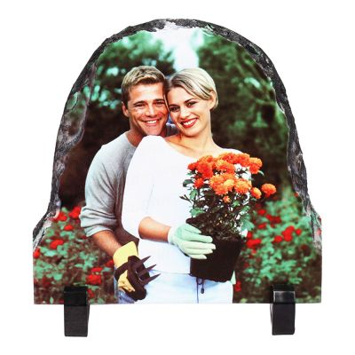 15 x 15CM Semi-Oval Sublimation Photo Slate