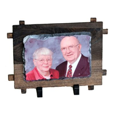 Rectangular Sublimation Photo Slate  with Wood Frame (12 x 17CM)
