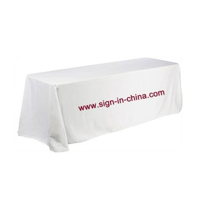 6ft (4) Full Length Sides Rectangular Dye-sublimation Table Throws with Custom Logo (Multicolor optional)