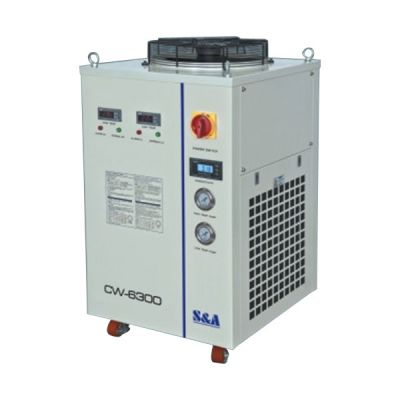 S&A CW-6300ET Industrial Water Chiller (3.46HP, AC 3P 380V 50HZ) for a Single 800W Fiber Laser Cooling, Dual Temperature and Dual Pump