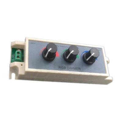 RGB LED Light Dimmer 3-Way Adjustable Brightness Knob Switch Controller DC 12V
