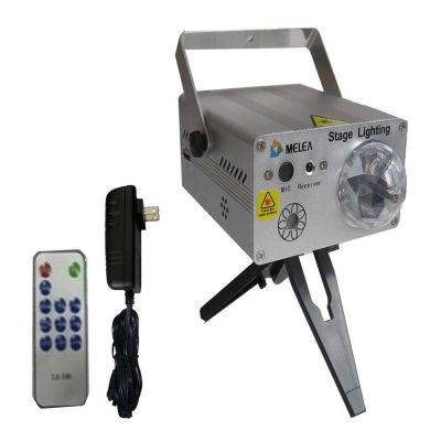 S04 Multi-Patterns Mini Laser Stage Lighting (With Remote Controller)