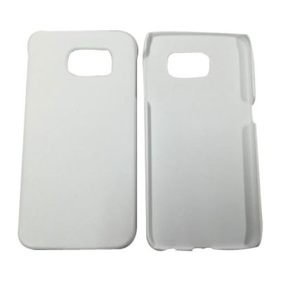 3D Sublimation White Samsung S6 Blank Cell Phone Case Cover for Heat Transfer Printing