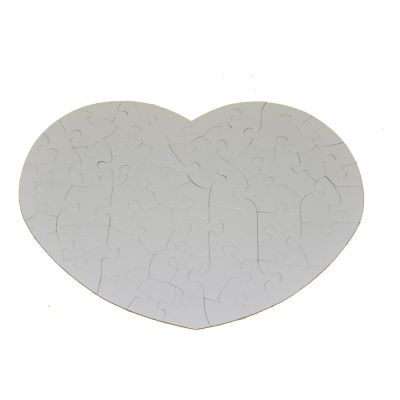 Pearlescent Heart-Shape Sublimation Blank Jigsaw Puzzle Child Toy Heat Transfer