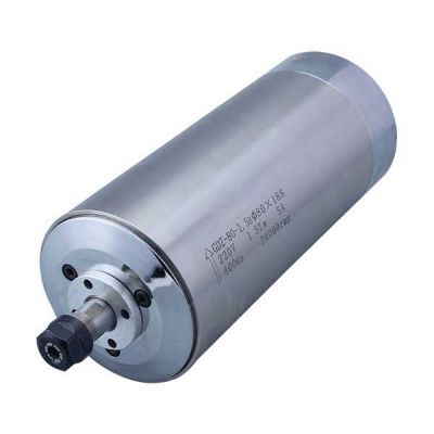 1.5KW 24000rpm Water Cooled Spindle Motor for CNC Engraving Milling Grinding, 220V, Dia. 80 x 188mm