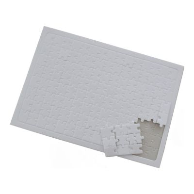 "8.2"" x 11.4"" White Rectangle UV Printing Blank Jigsaw Puzzle DIY Games Child Toy (20pcs/pack)"