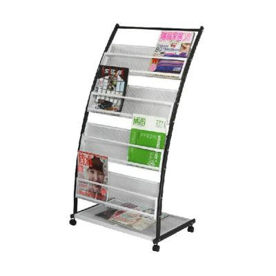 P Style Iron Literature Display Rack With 4 Pockets