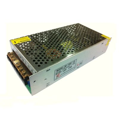 180W AC100V-240V to DC 12V 15A Non-Waterproof Metal Cover LED Power Supply Transformer Driver( LED Module/LED Strip/LED Bar)