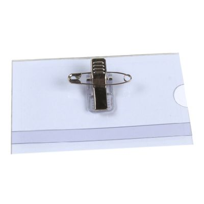 PVC Badge Card Holder with Pin