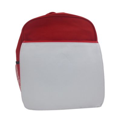 Red Blank Sublimation Backpack with Heat Transfer Flap for Kids