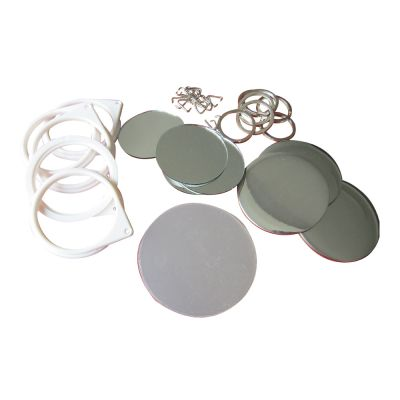 1000pcs Blank 58mm Mirror Button with Key-Chain Supplies