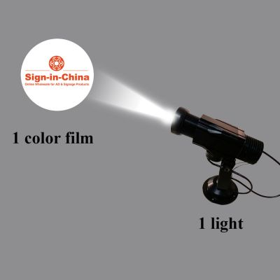 High Quality 12W LED Rotating Gobo Advertising Logo Projector Light (1 Light + 1 Single Color Film)