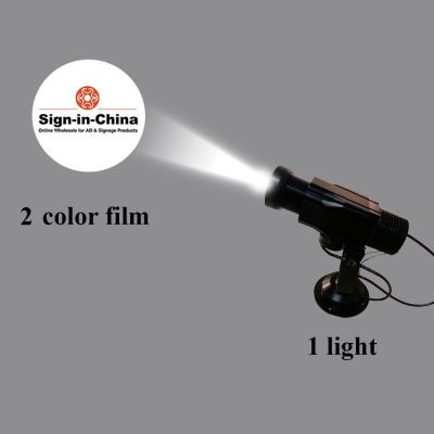 High Quality 12W LED Rotating Gobo Advertising Logo Projector Light (Two Color), 1 Light + 1 Two Colors Film