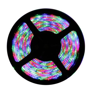 16.4FT 5M Waterproof 300 LED Strip Light 3528 SMD RGB Colourful String Ribbon Tape Roll 12V