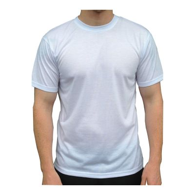 Plain White Sublimation Blank Polyester T-Shirt for Men