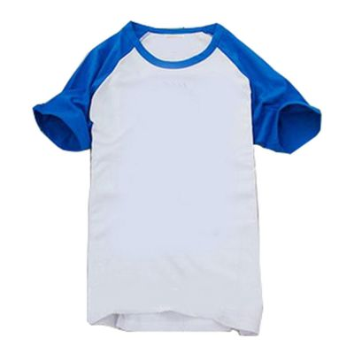 Sublimation Blank Polyester T-Shirt Raglan with Sleeve Colorful for Men