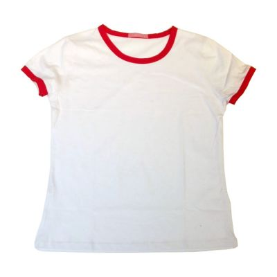 Blank Women's Combed Cotton T-Shirt with Rim Colorful