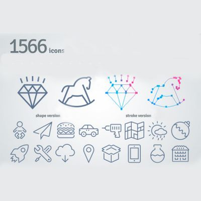 1566 Thin Line Icons (Free Download Illustrations)