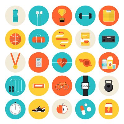 Brightly All Vector Flat Icon Set (Free Download Illustrations)