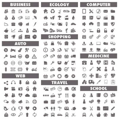 Universal Web Vector Flat Icon Set (Free Download Illustrations)