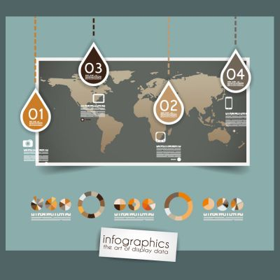 Infographics the Art of Display Data Diagram and Infographics Design Vector Illustration (Free Download Illustrations)
