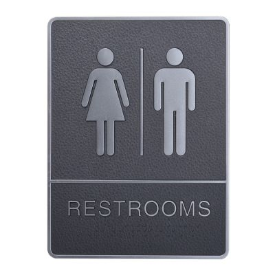 Male/ female, Toilet, Restroom Signs With Braille, ABS New Material