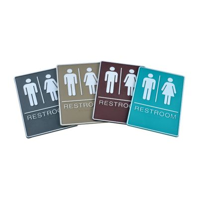 Male / Female, Toilet, Restroom Signs With Braille, ABS New Material