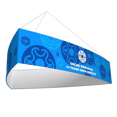 Curved Triangle Tension Fabric Hanging Sign Tradeshow Display With Graphic