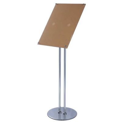 A3 Size Pedestal Sign Stand Adjustable Height Acrylic Display Frame