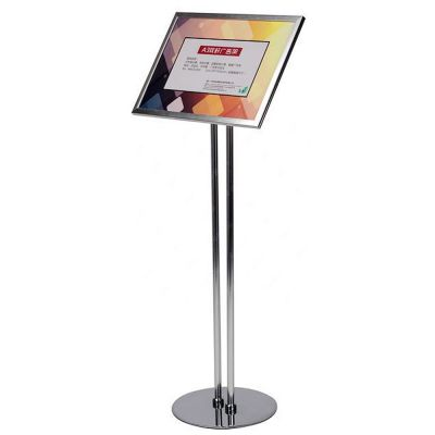 A3 Size Pedestal Sign Stand Adjustable Height Display Frame