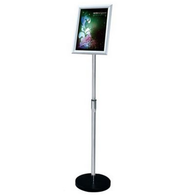 A4 Size Pedestal Sign Stand Adjustable Height Vertical / Horizontal Display Frame