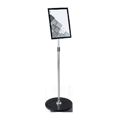 Pedestal Sign Stand Adjustable Height Display Frame