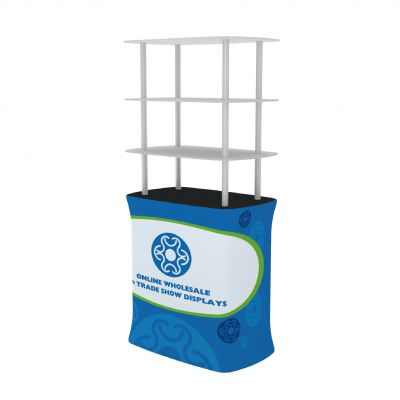 Square Shelf Tension Fabric Racks for Trade Show Display with Custom Graphic
