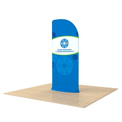 New Allure Fabric Tension Banner Stands with Custom Graphic