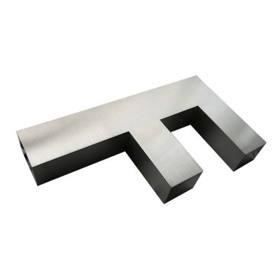 Modern Brushed Stainless Steel Letters & Numbers (Height: 1.57~3.94 inch)