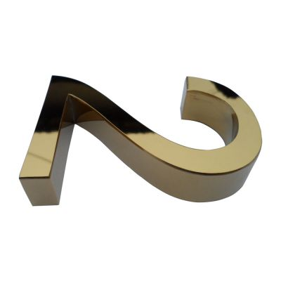 Modern Stainless Steel Titanium Gold Letters & Numbers (Item Height: 1.57~3.94 inch)