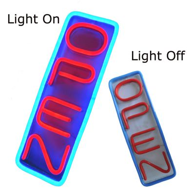 Vertical LED Open Signs Neon Styles Large Letter Display Vivid Bright Color