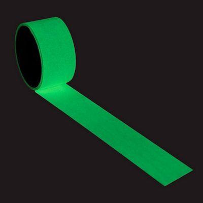 """4"""" x 30ft Printable Sticky Tape Self Adhesive Luminous Safety Film Sticker Roll, 10 Hours Glow in the Dark"""