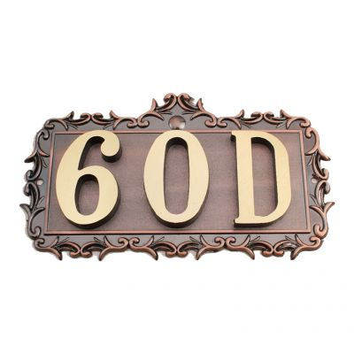 [$ 14.73] Custom House Office Apartment Number Sign Address Plaque Metal  Copper (3 Letters or Numbers)