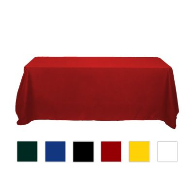 8ft Economical Rectangular Solid Color Table Throw