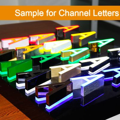 Sample for Channel Letters-A Random Letter Product