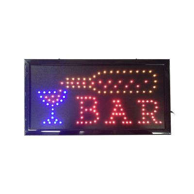 Animated LED Open BAR Sign Bright Light